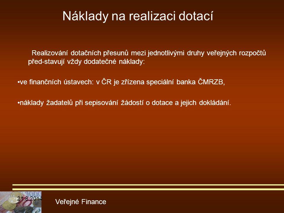 Náklady na realizaci dotací