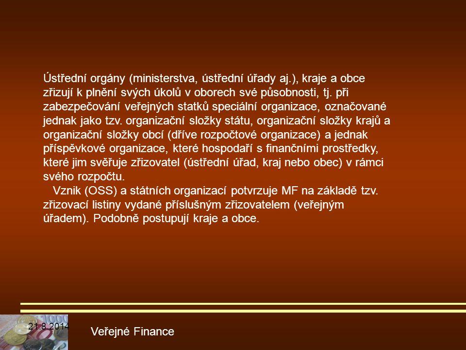 Ústřední orgány (ministerstva, ústřední úřady aj