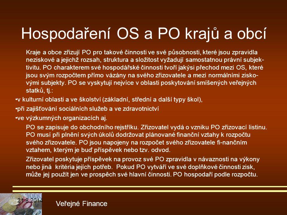 Hospodaření OS a PO krajů a obcí
