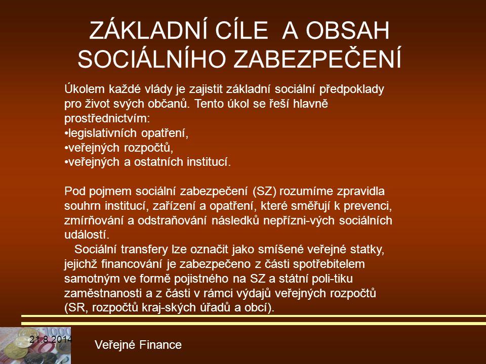 ZÁKLADNÍ CÍLE A OBSAH SOCIÁLNÍHO ZABEZPEČENÍ