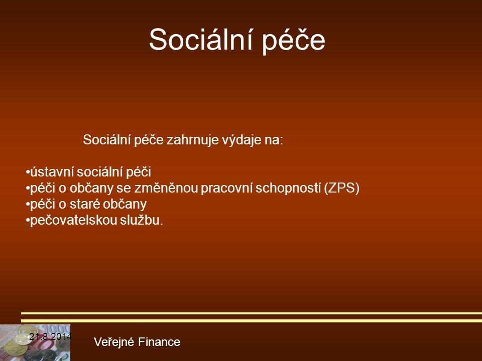 Sociální péče •ústavní sociální péči