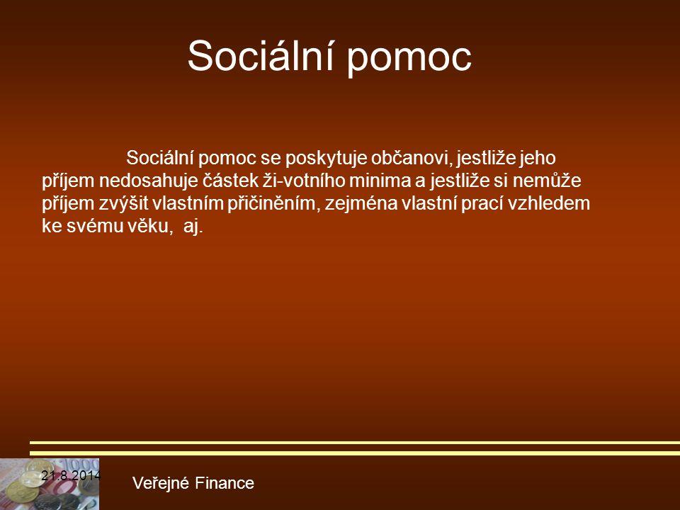 Sociální pomoc Veřejné Finance
