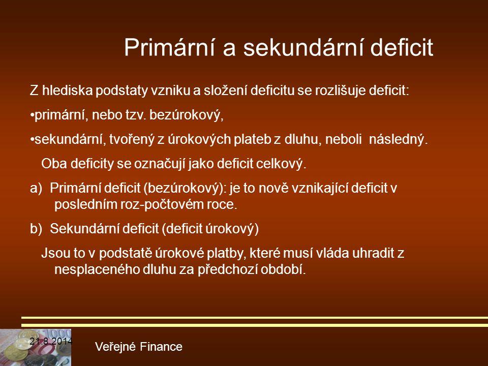 Primární a sekundární deficit