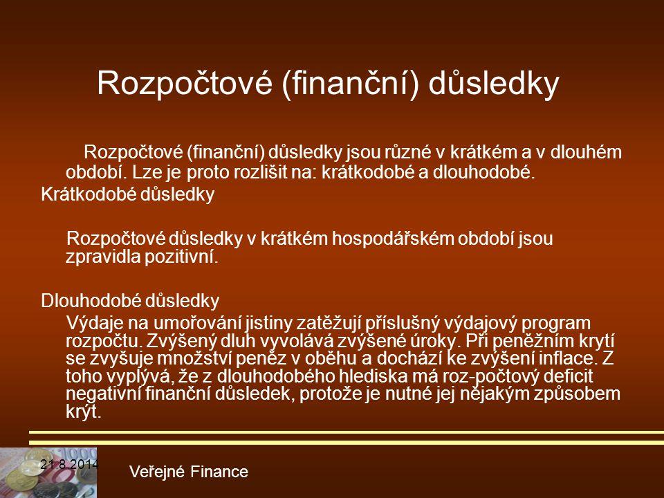 Rozpočtové (finanční) důsledky