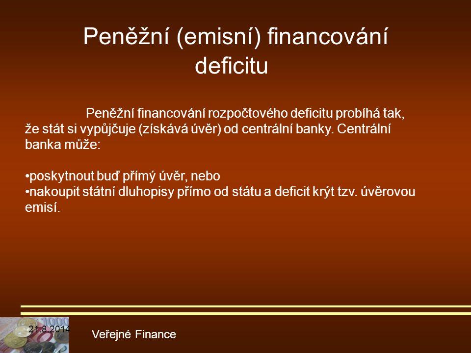 Peněžní (emisní) financování deficitu