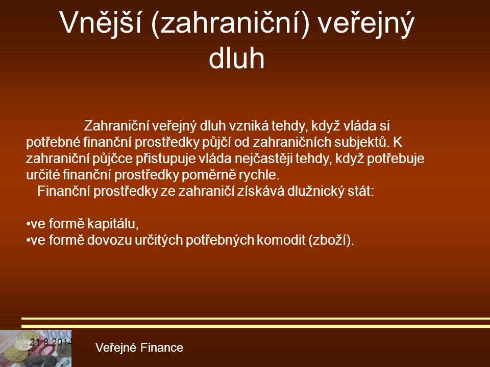 Vnější (zahraniční) veřejný dluh