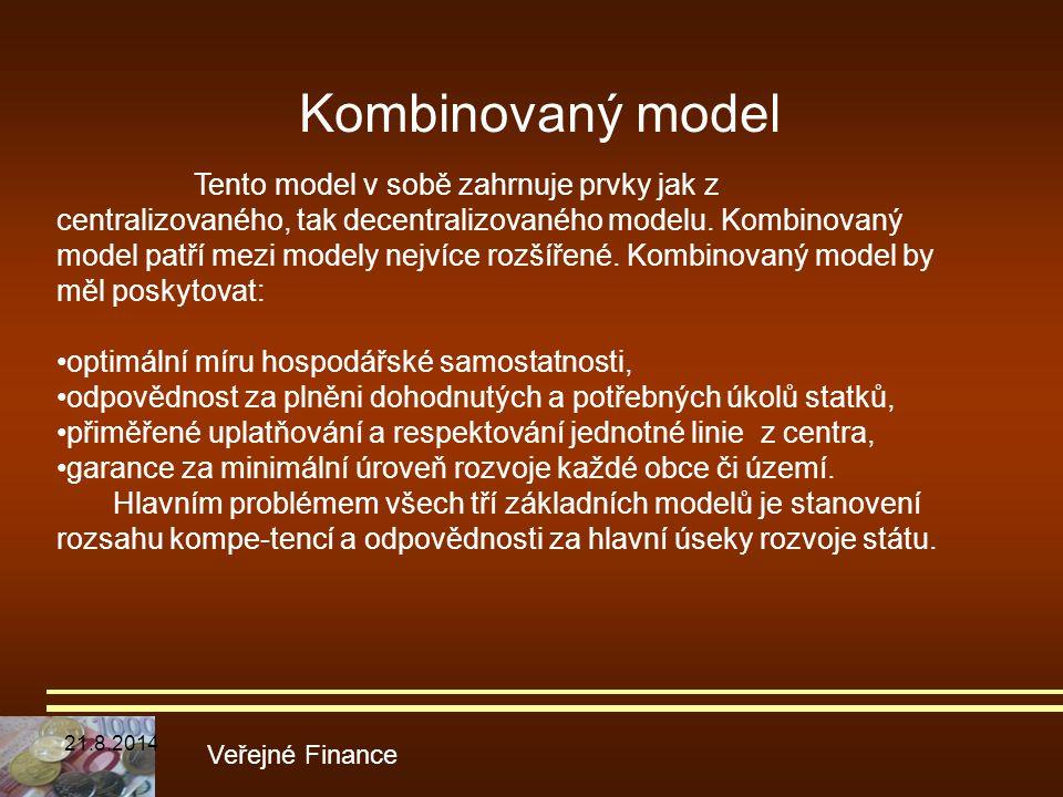 Kombinovaný model •optimální míru hospodářské samostatnosti,