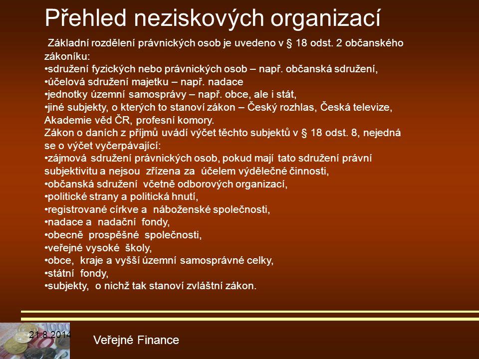 Přehled neziskových organizací