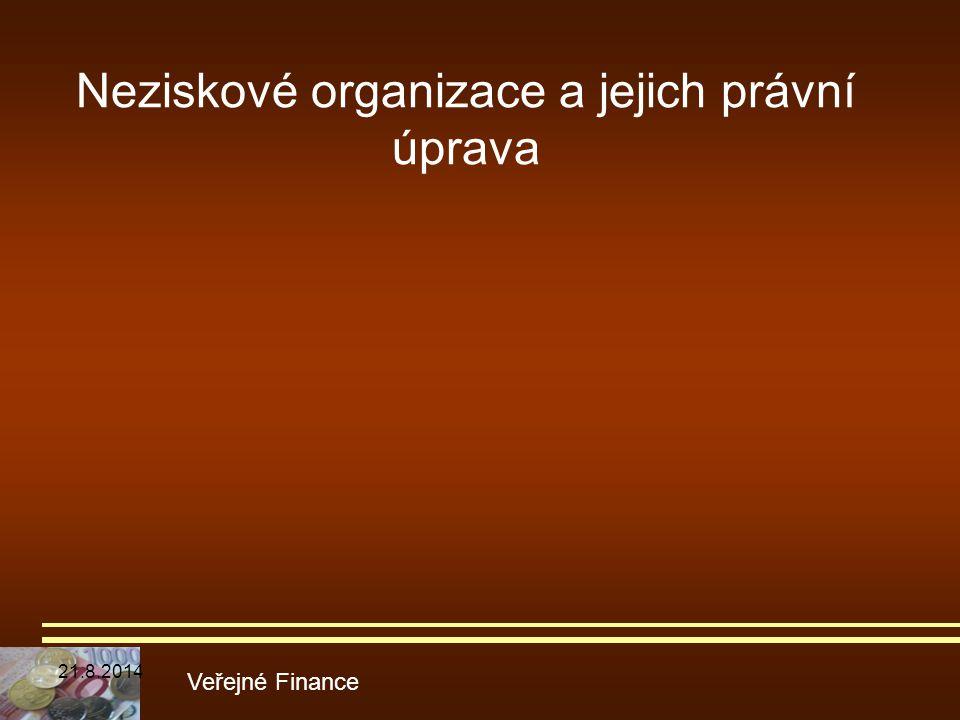 Neziskové organizace a jejich právní úprava
