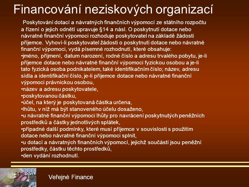 Financování neziskových organizací