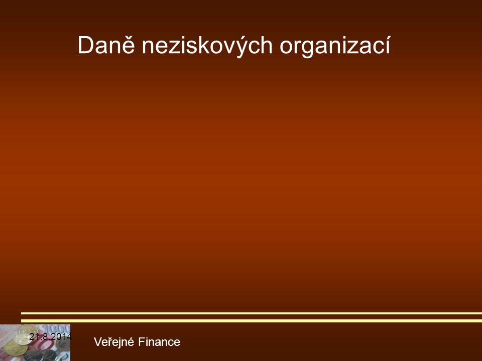 Daně neziskových organizací