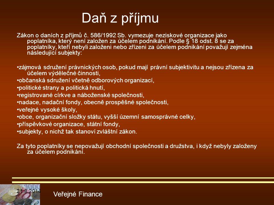 Daň z příjmu Veřejné Finance