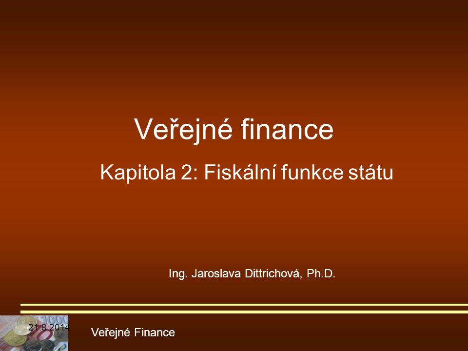 Kapitola 2: Fiskální funkce státu