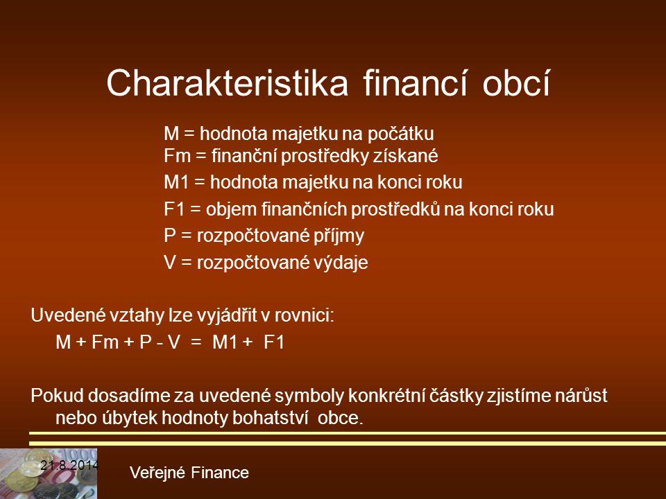 Charakteristika financí obcí
