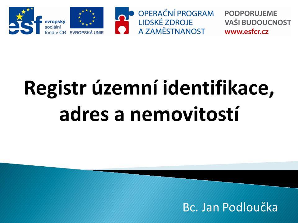 Registr územní identifikace, adres a nemovitostí
