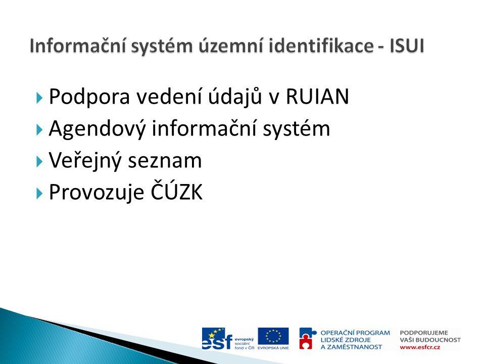 Informační systém územní identifikace - ISUI