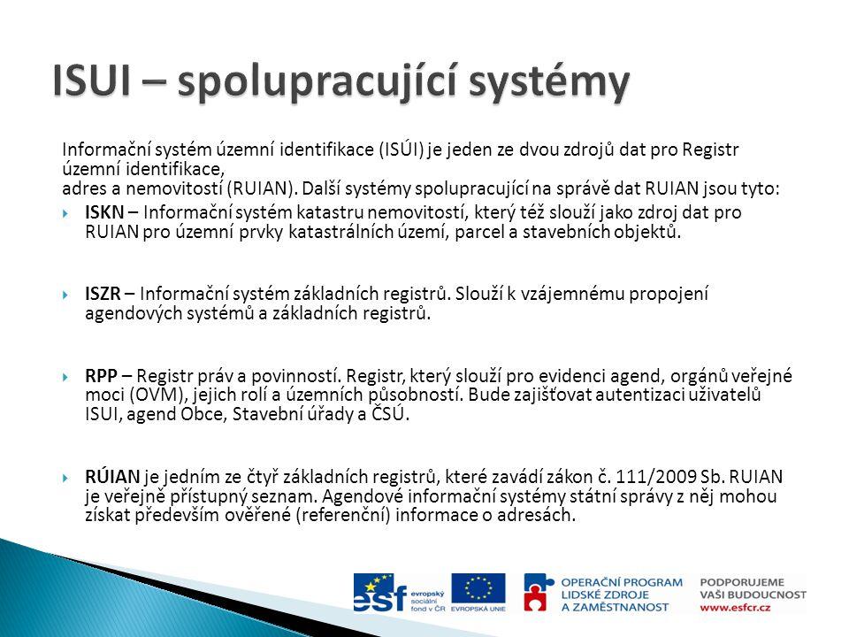ISUI – spolupracující systémy