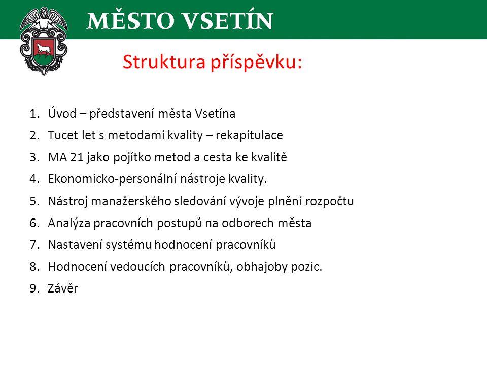 Struktura příspěvku: Úvod – představení města Vsetína