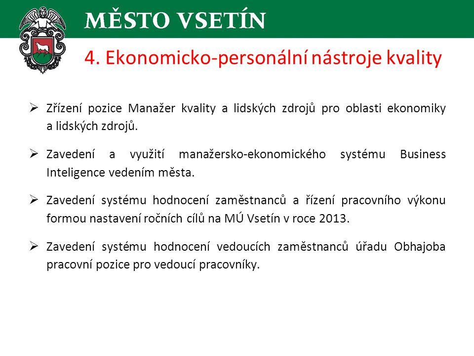 4. Ekonomicko-personální nástroje kvality