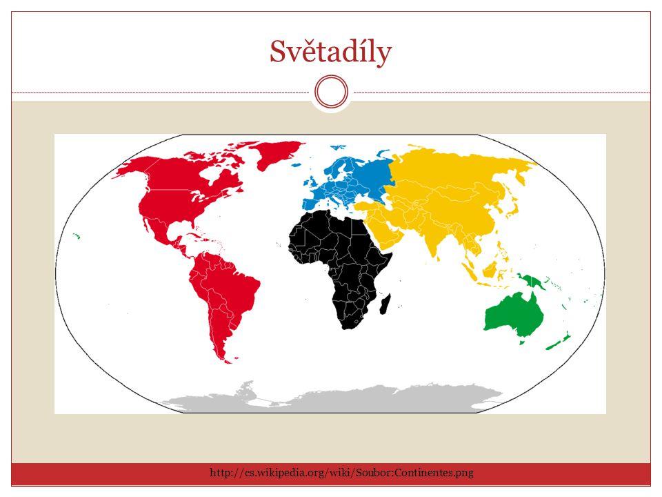 Světadíly http://cs.wikipedia.org/wiki/Soubor:Continentes.png