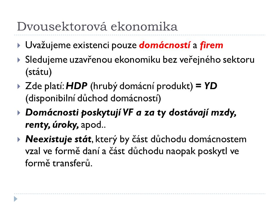 Dvousektorová ekonomika