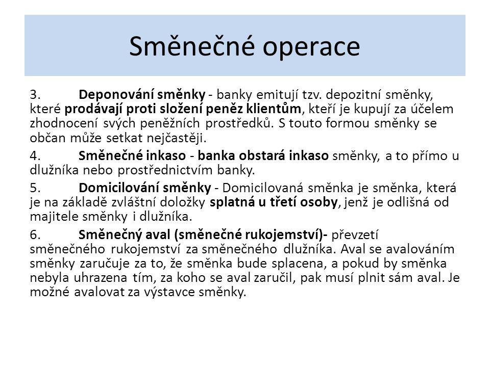 Směnečné operace