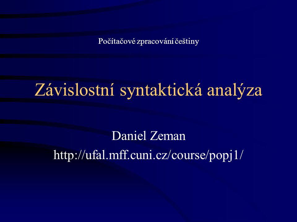 Závislostní syntaktická analýza