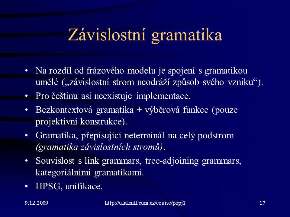 Závislostní gramatika