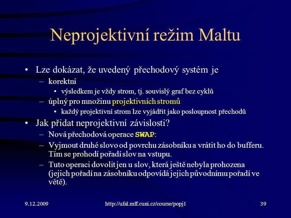 Neprojektivní režim Maltu