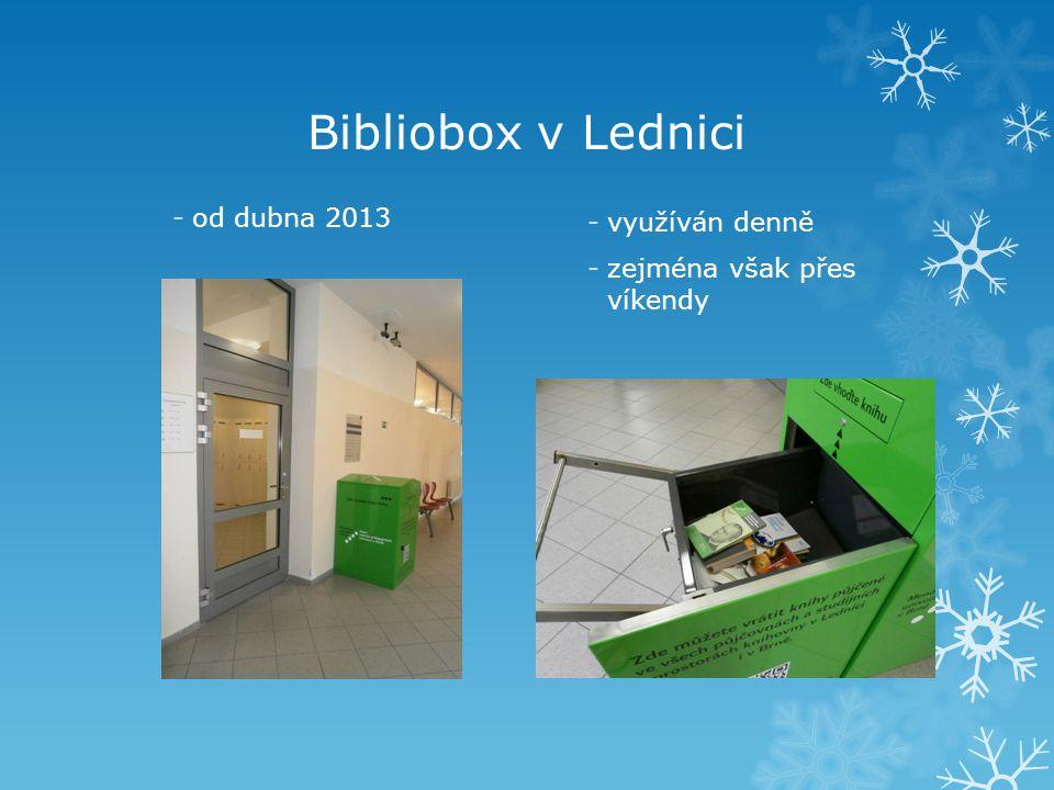 Bibliobox v Lednici od dubna 2013 využíván denně