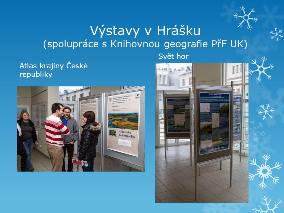 Výstavy v Hrášku (spolupráce s Knihovnou geografie PřF UK)