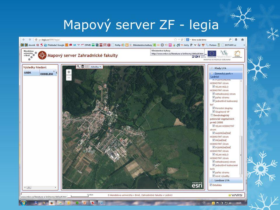 Mapový server ZF - legia
