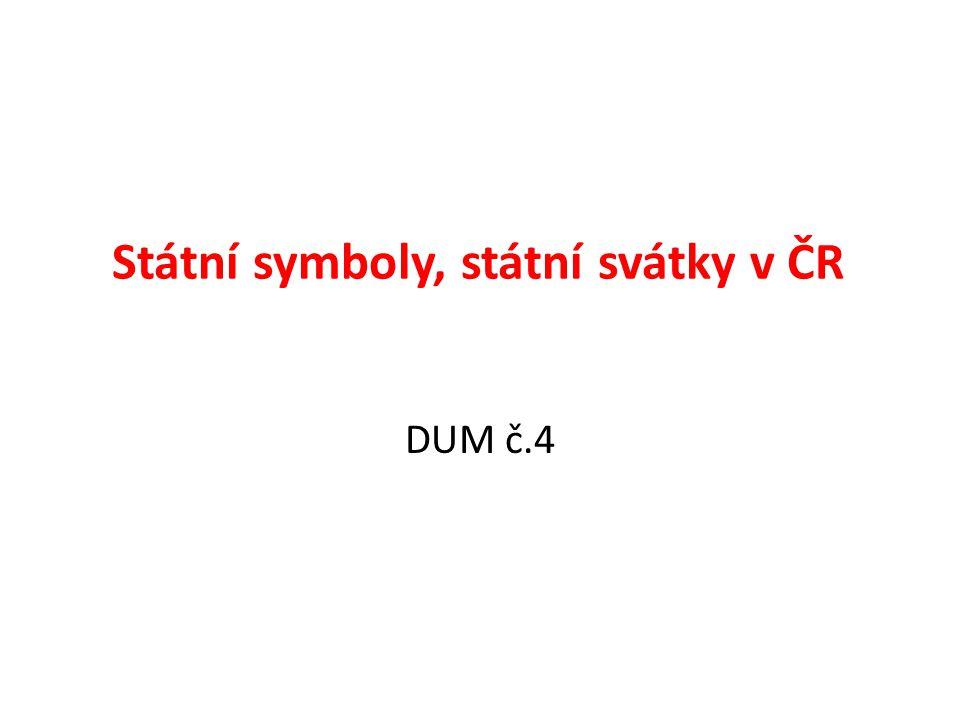 Státní symboly, státní svátky v ČR