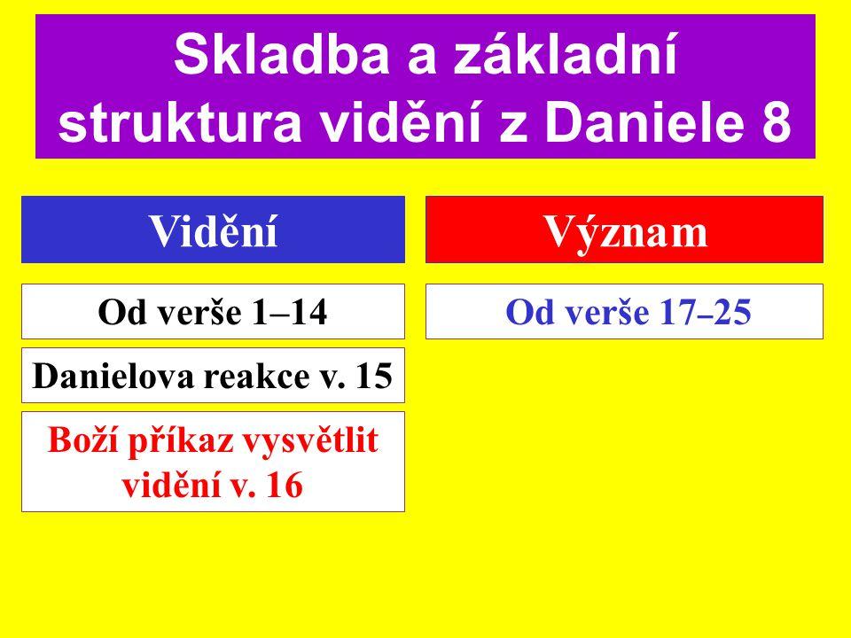 Skladba a základní struktura vidění z Daniele 8