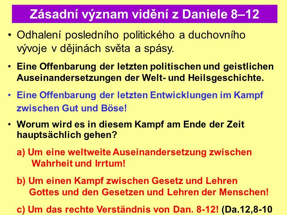 Zásadní význam vidění z Daniele 8–12