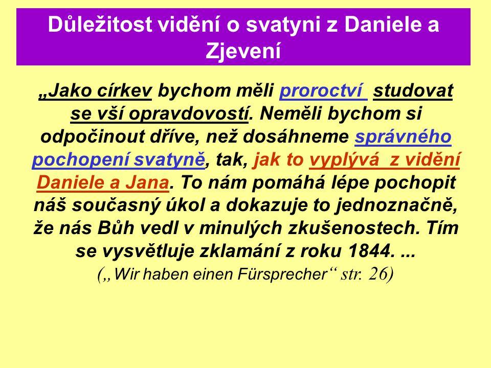 Důležitost vidění o svatyni z Daniele a Zjevení