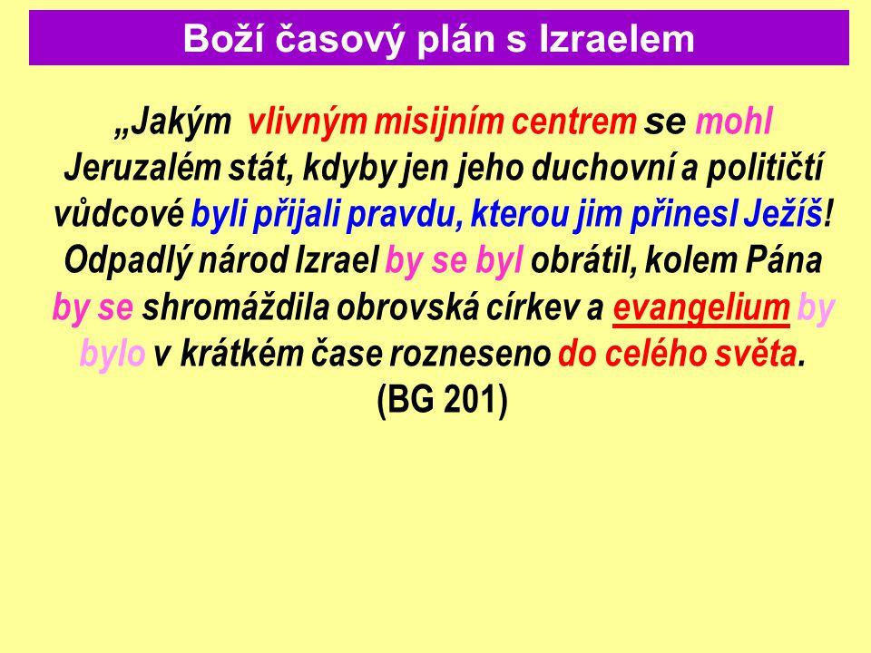 Boží časový plán s Izraelem