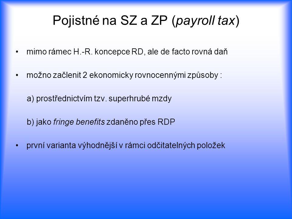 Pojistné na SZ a ZP (payroll tax)