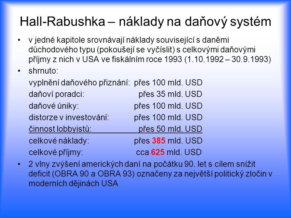 Hall-Rabushka – náklady na daňový systém