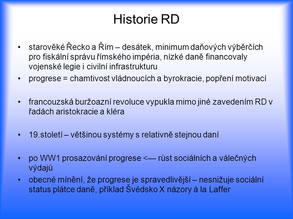 Historie RD