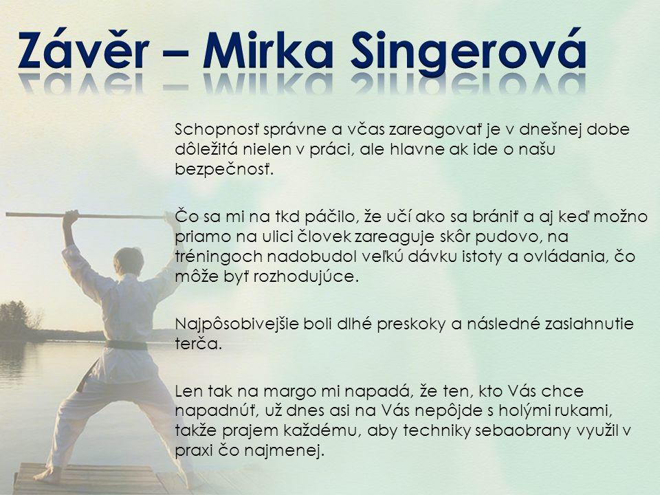 Závěr – Mirka Singerová
