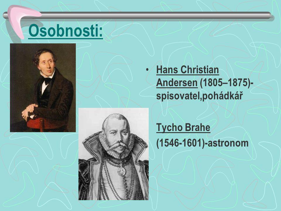 Osobnosti: Hans Christian Andersen (1805–1875)- spisovatel,pohádkář