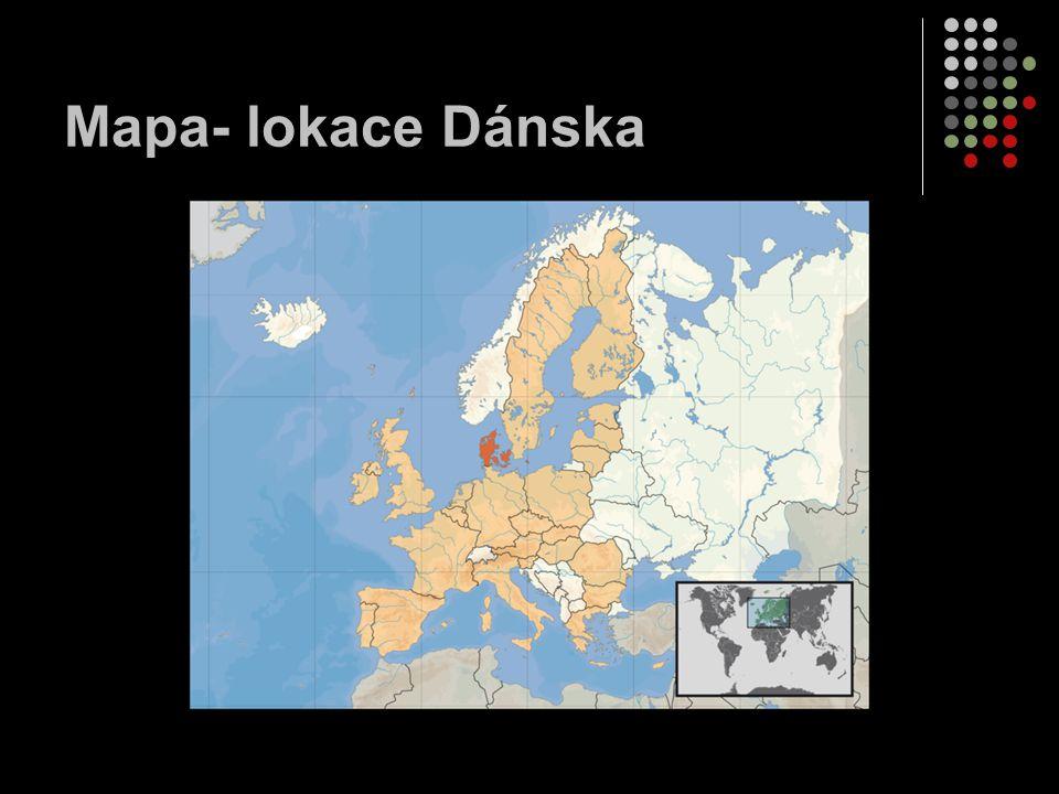 Mapa- lokace Dánska