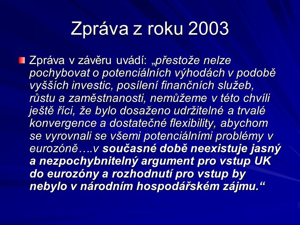 Zpráva z roku 2003