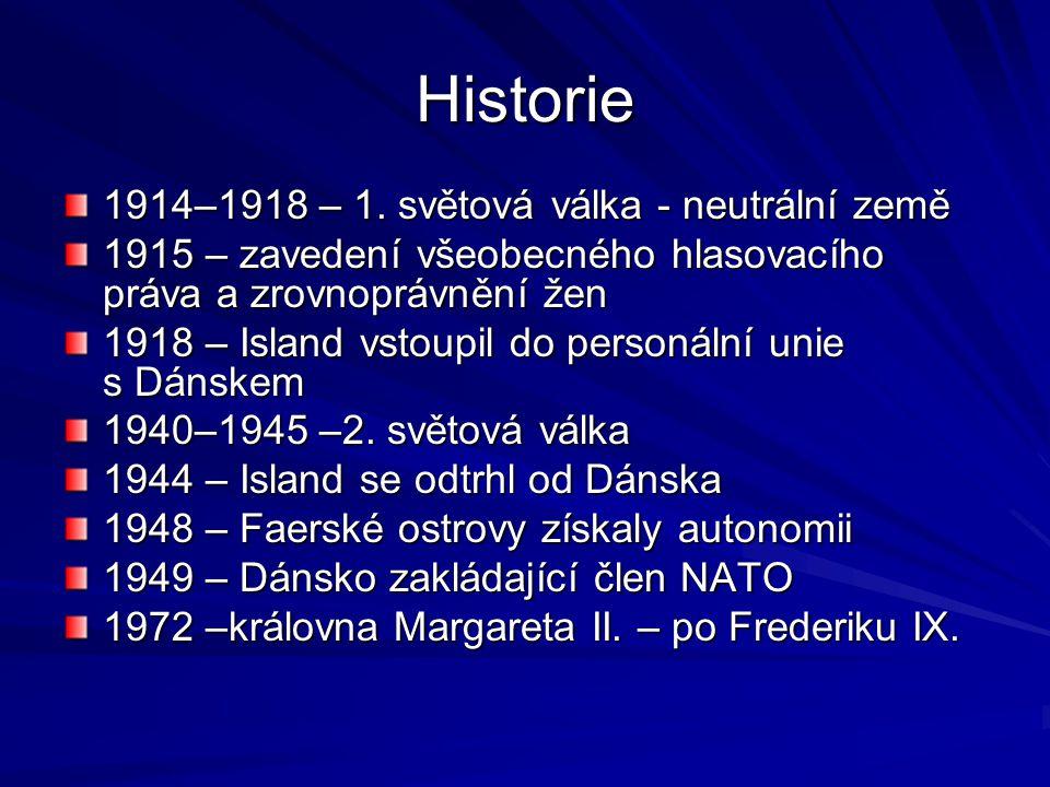 Historie 1914–1918 – 1. světová válka - neutrální země