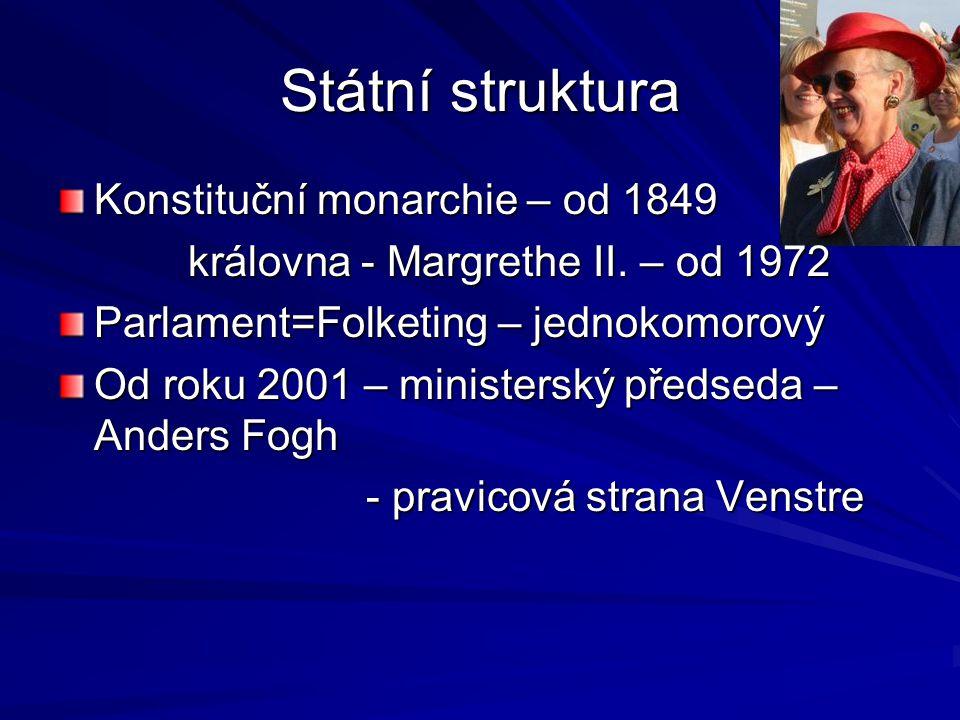 Státní struktura Konstituční monarchie – od 1849
