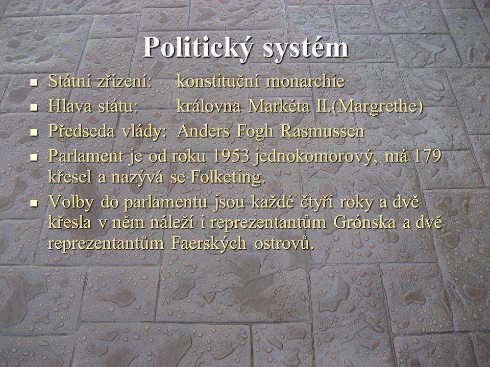 Politický systém Státní zřízení: konstituční monarchie