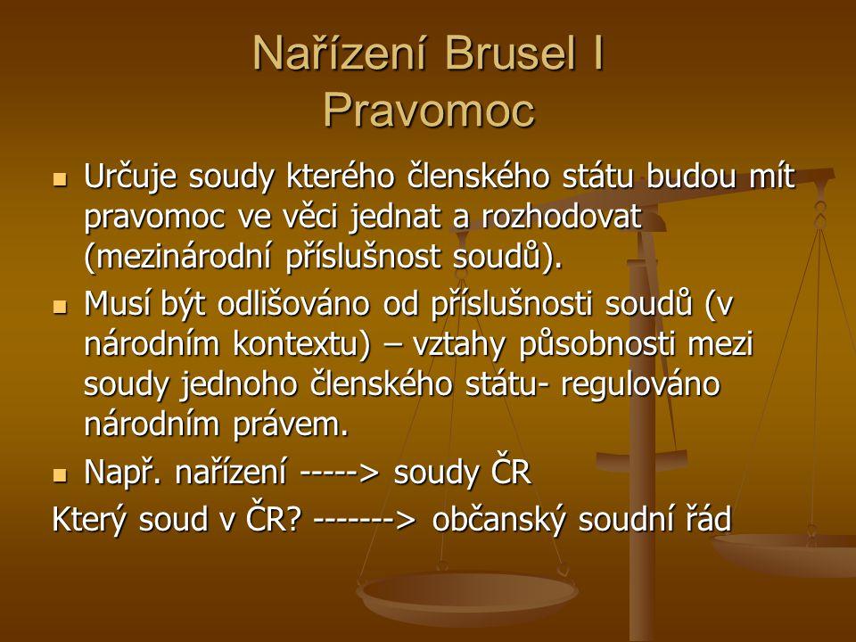Nařízení Brusel I Pravomoc