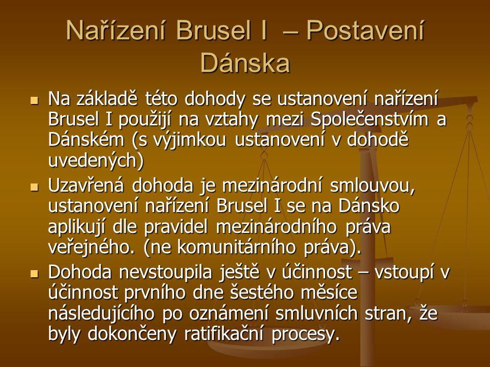 Nařízení Brusel I – Postavení Dánska