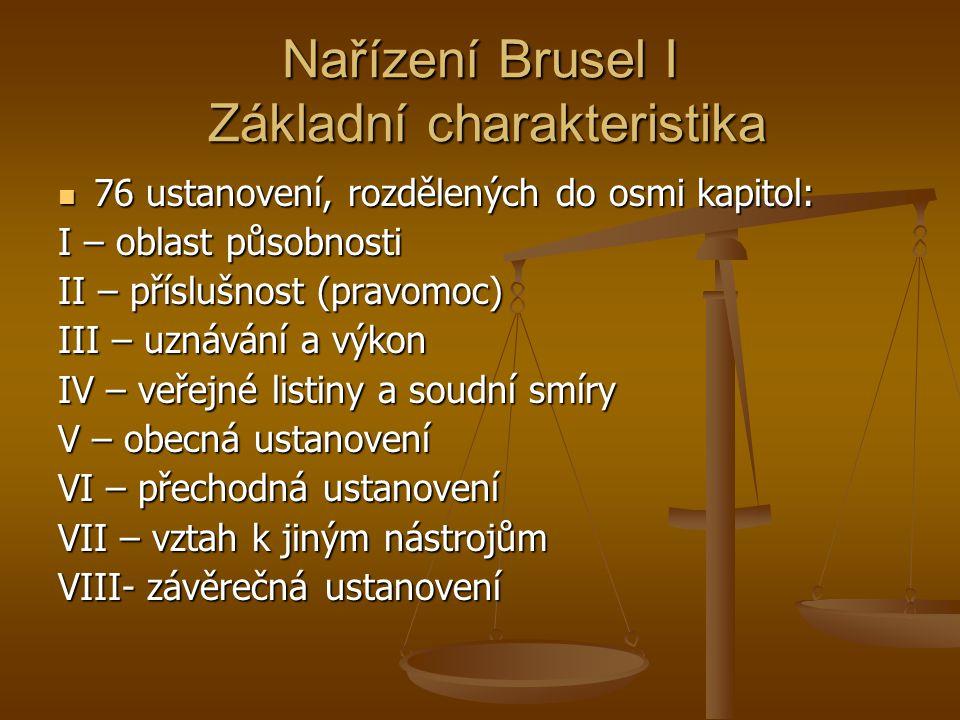 Nařízení Brusel I Základní charakteristika